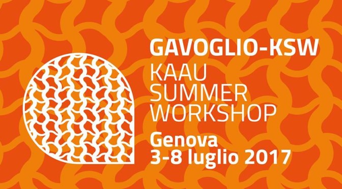 Il GAVOGLIO – KSW [KAAU SUMMER WORKSHOP Rebel Matters Social Batters III]