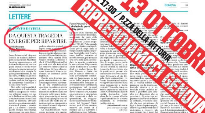 """""""Che cosa chiediamo?""""- il manifesto di """"13 ottobre, Riprendiamoci Genova"""""""